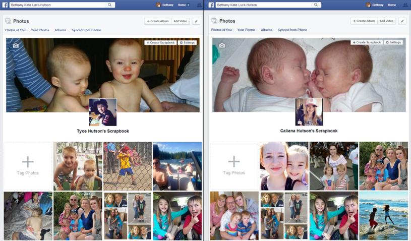 Facebook Scrapbook Examples